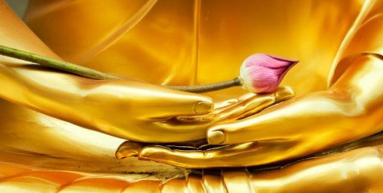 будда с розой