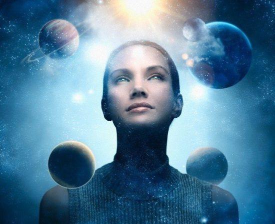 девушка во вселенной