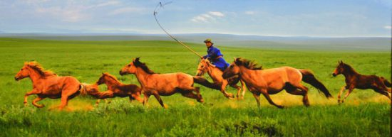 скакун в Монголии