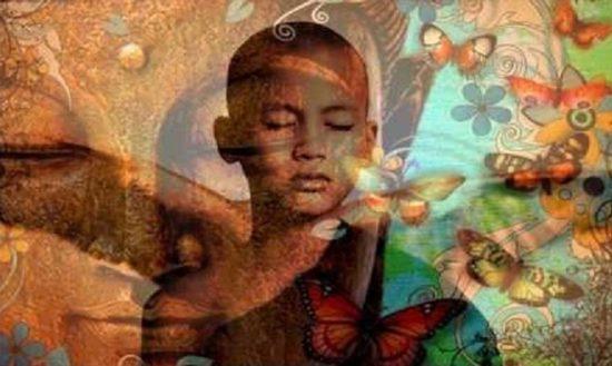 мальчик медитирует