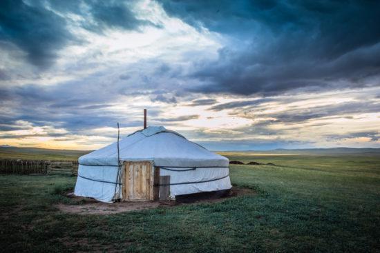 жилище кочевников в Тыве