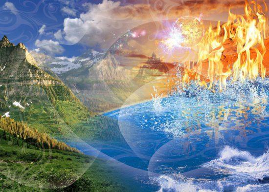 вода, земля, огонь, воздух