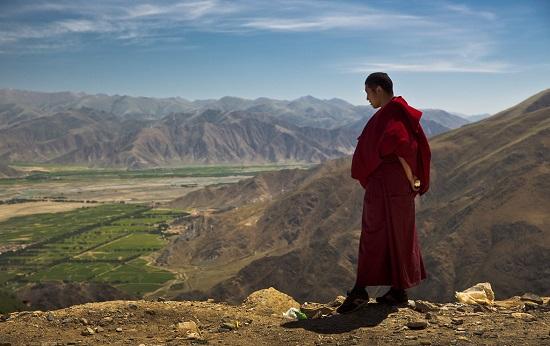 в горах тибета
