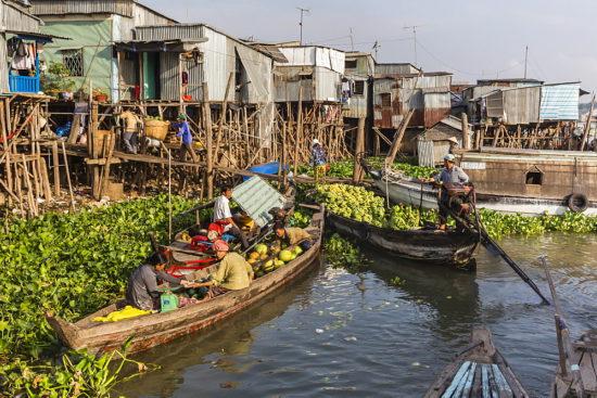 деревни на воде Меконг