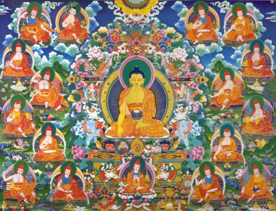 архаты вокруг будды