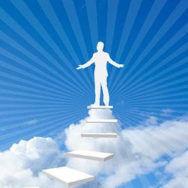 человек на вершине