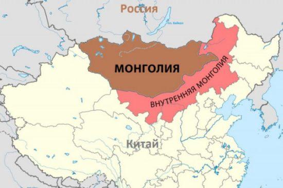 Внутренняя Монголия на карте