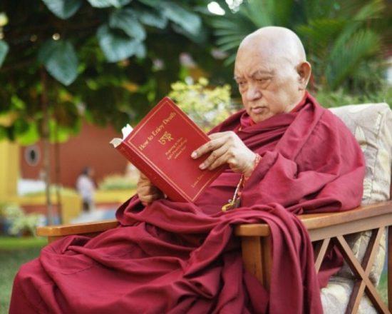 Монах читает книгу