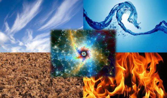 огонь, воздух, земля, вода