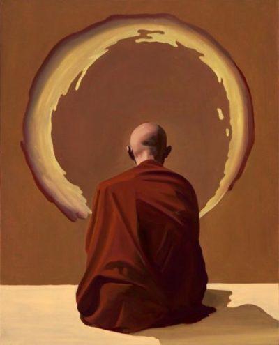 Монах в медитации