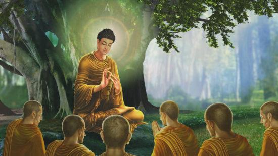 Будда с учениками