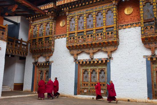 Крепость в Бутане