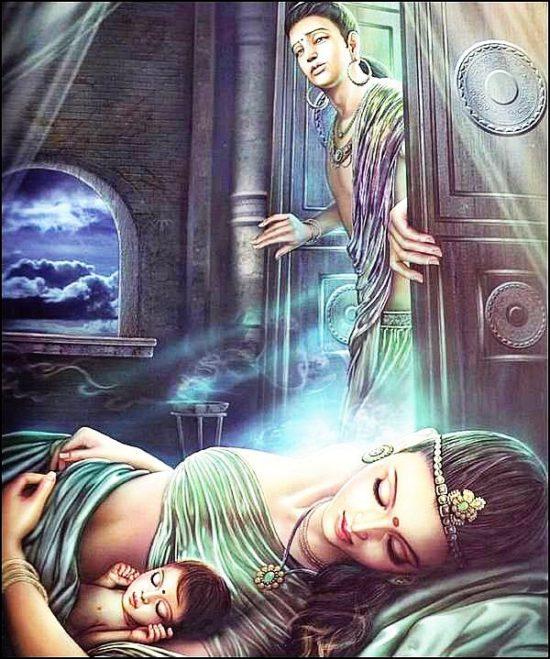 Сиддхартха с женой и сыном