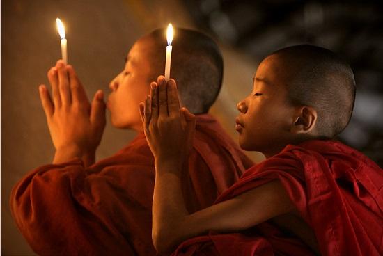 в буддийском храме