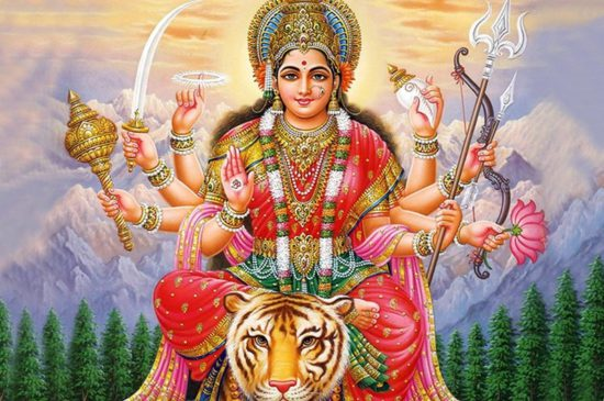 супруга Шивы верхом на тигре