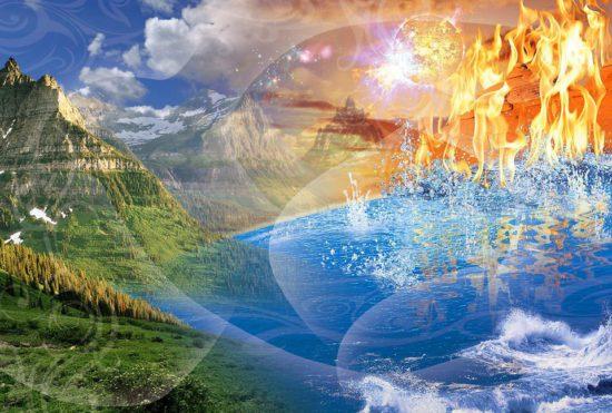 огонь, земля, вода, воздух