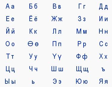 азбука ойратов