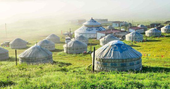 Юрты во внутренней Монголии