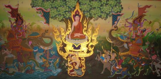 борьба будды с демоном