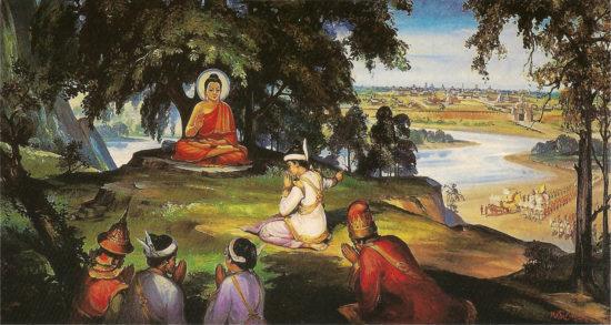 встреча Будды и царя