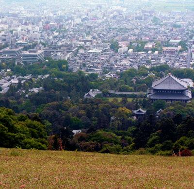 панорама японского города
