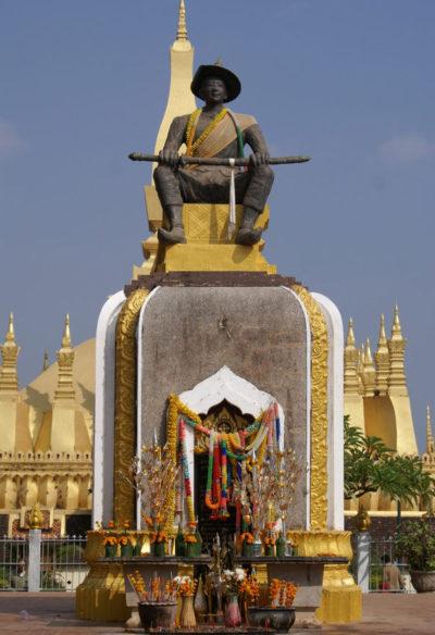 изваяние правителя Лаоса
