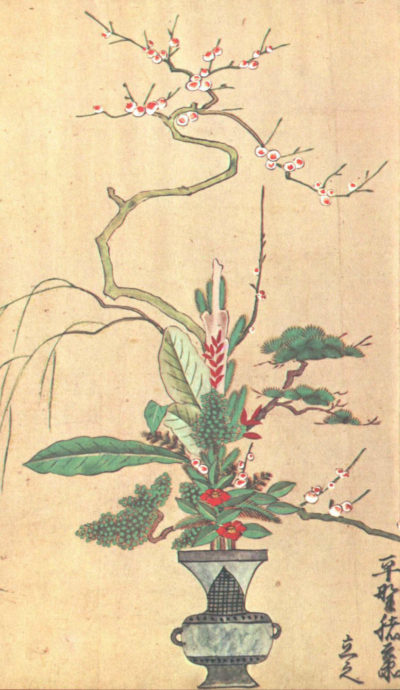 Рисунок икебана